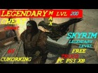 Skyrim legendary cheat free truco pc ps3 xbox max lvl 200 by cukorking