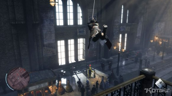 Las acrobacias no faltarán a su cita con el videojuego, en esta ocasión con gancho incluido.