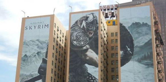 Cartel publicitario The Elder Scrolls V: Skyrim - E3 2011, Los Ángeles