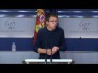 V�deo: Rueda de prensa de ��igo Errej�n tras la junta de portavoces. 18 de Octubre de 2016