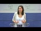 Video: Declaraciones de Irene Montero en el Set de TV del Congreso de los Diputados