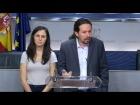 Video: Presentación de una Proposición de Ley sobre la pobreza infantil