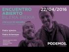 """V�deo: Pablo Iglesias y Pablo Echenique en el """"Encuentro abierto con los c�rculos de Navarra"""""""