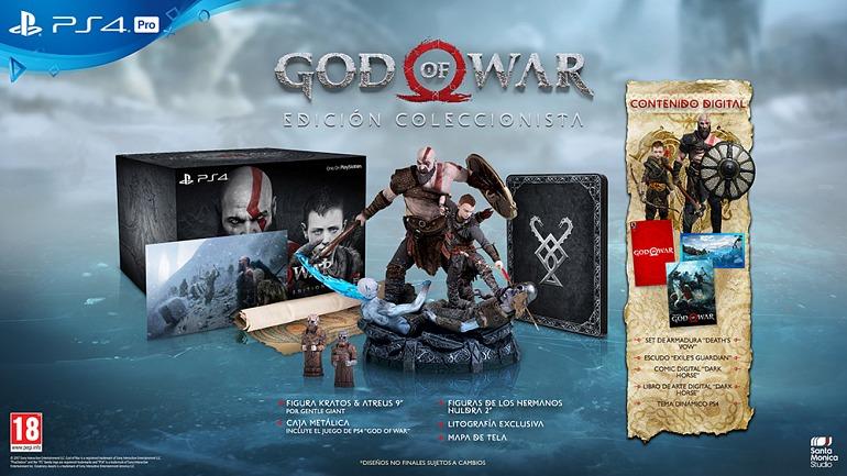 Resultado de imagen para god of war ps4 edicion coleccionista