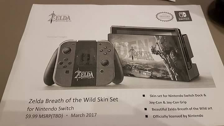 Switch se estrenará con accesorios inspirados en Zelda: Breath of the Wild