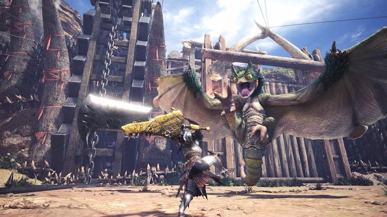 Los escuadrones de Monster Hunter World serán de hasta 50 jugadores