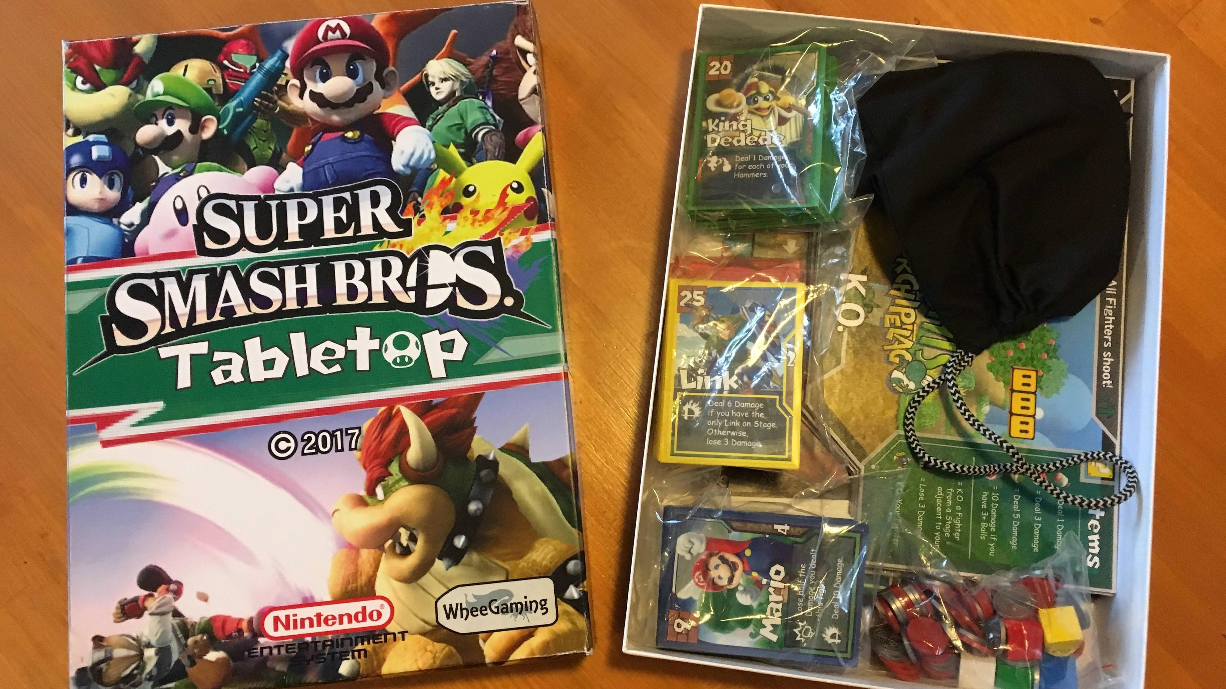 Un Fan Crea Un Juego De Mesa De Super Smash Bros Nintendo Pacotes